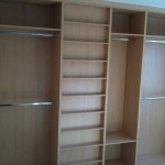 Fitted wardrobe interior by Newbold Bedrooms Chesterfield