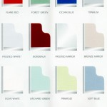 Selection of coloured glass for sliding doors by Newbold Bedrooms Chesterfield